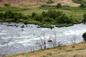 Deschutes River Rapids descending into the Columbia Gorge, Doug Campbell Photo